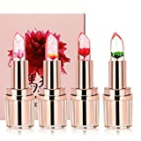 Ushion Flower Jelly Lipstick Lip Gloss Barbie Rose Idratante a Lunga Durata Change Temperature Color Lucidalabbra Lip Care -Candy Profumato