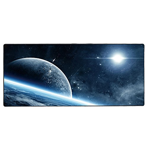 XL Mousepad, Gaming Mouse Pad von Cmhoo 90x40 Space Office Space Mouse Pad