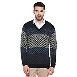 Duke Men Casual Sweater 1968078031 Navy Coloured X-Large