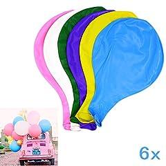 Idea Regalo - JZK 6 Palloncino grande 90cm Molto Resistento in lattice palloncini grandi colorati per matrimonio compleanno battesimo laurea Natale festa, bianco giallo rosa blu viola verde