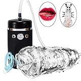 Masturbator für Herren, elektrische Pumpe, Penispumpe mit starker Saugkraft, Oralsex, 3D realistisches Spielzeug für den Mann, naturgetreuer Mund