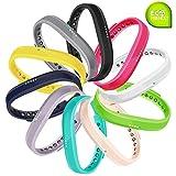 Fit-power - Lot de 2 bracelets de rechange pour Fitbit Flex 2, plusieurs tailles disponibles, Lot de 10, petit