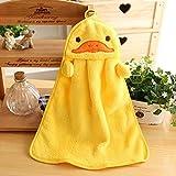 HuaYang Carcasa de bebé para niños suave tela para toallitas húmedas diseño con texto en inglés de baño toalla de mano (en forma de pato para)
