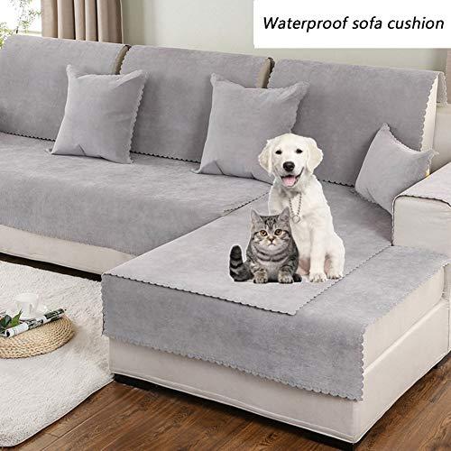 DW&HX Anti-rutsch Sofa Decken,Pet Abdeckung für Couch,Multi-Size Sofabezug Möbel Protector Für Hund und Kinder -grau 35x63inch(90x160cm) (Couch Pet-abdeckung)