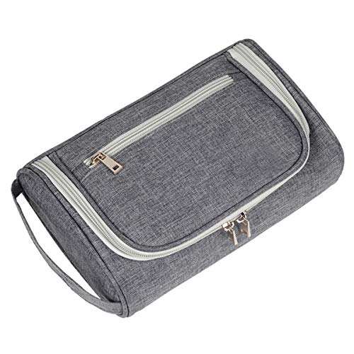 Fsskgx Herren Kulturbeutel - Rasiertasche Portable Travel Cosmetic Bag Organizer - Grau