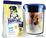 2 x 10 kg + Futtertonne 43 Liter Happy Dog Supreme Baby Grainfree