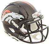 OFFICIAL NFL DENVER BRONCOS MINI SPEED AMERICAN FOOTBALL HELMET BY RIDDELL