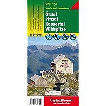 Freytag Berndt Wanderkarten, WK 251, Ötztal - Pitztal - Kaunertal - Wildspitze - Maßstab 1:50 000