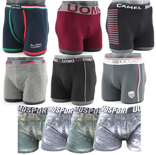 8 Stück Mix Herren Boxershorts Unterhosen Baumwolle Unterwäsche M bis 3XL - Top Angebot (M / 5, Modell 1) (Top Angebote)