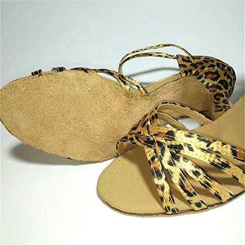 Sqiao-x - Chaussures De Danse Léopard Imprimer, Suivre 7cm Souple En Cuir Anti-dérapant Tête Ronde? Just Dance Dance Dance Dance Shoes Chaussures Le Cursor Leopard