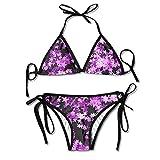Purple Star Sky Womens Fashion Adjustable Swimsuit Bikini Set