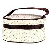 Itian Set 5pcs Mutter Bag, für Baby-Milch Trinken, Windel Wechseln und Lagerung andere Dinge (Braun) -