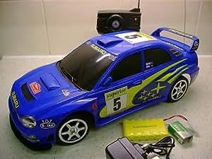 SUBARU IMPREZA WRC - Voiture telecommandee radiocommandee bleue 1/10