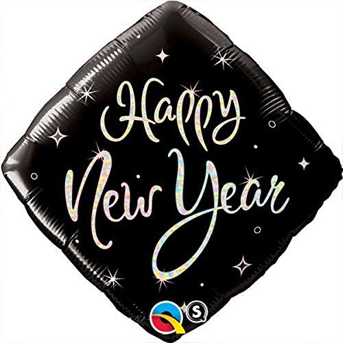 Ballon Happy New Year carré Taille 45 cm (18) à l'unité