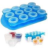 12Stück Ice Shot Kunststoff Frozen Party Getränk Glas Formplatten Cube Maker Gefrierschrank Set Ihre eigenen Shooters