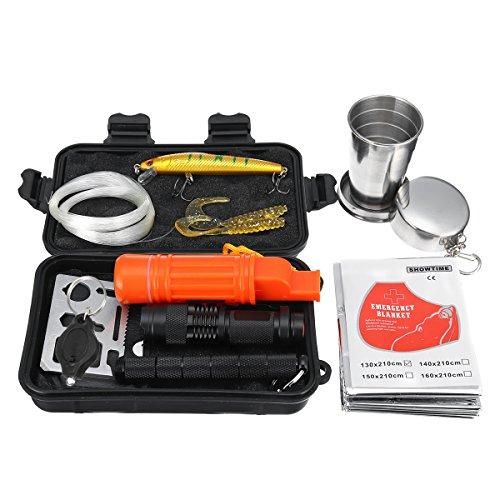 Kit d'outils de Survie d'urgence 16 en 1 SOS - Outil Tactique - Gadgets EDC