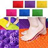 Fautly 2PCS Acupressure Foot Mats, Korean Game Foot Reflexology Walking Massage Mat for Pain Relief, Simulate Blood Circulation Yoga Mats (Red)