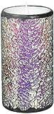SIMPLUX beweglichen Docht Mosaik Flammenlose LED Kerze mit Timer, 7,6x 15,2cm Multicolor