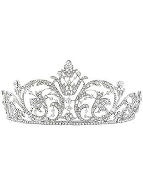 EVER FAITH® österreichischen Kristall Elegant Art Deco Braut Haarband Diadem Klar Silber-Ton N04243-1