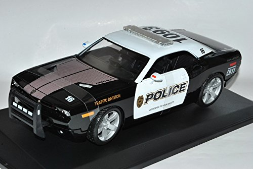 dodge-challenger-concept-police-lc-coupe-schwarz-weiss-ab-2008-1-18-maisto-modell-auto