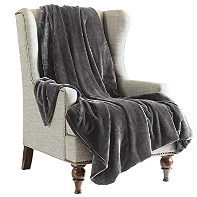 URBAN HABITAT Super Soft Luxury Fluffy Flannel Throw Blanket Lightweight Warm , Suitable for Sofa Bed produced by SCM Home - quick delivery from UK.