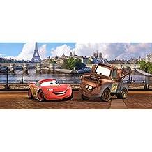 1art1 77434 Cars - Lightning McQueen Und Hook In Paris Fototapete Poster-Tapete 202 x 90 cm