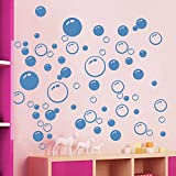86 Bubbles Bathroom Window Wall Art Decoration DIY Sticker DIY Decals Removable Living Room Bedroom Bathroom Wall Decal Stickers-Blue