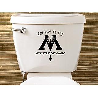 Level 33 Ltd Sticker pour toilettes Harry Potter «Ministry Of Magic» [en langue étrangère]