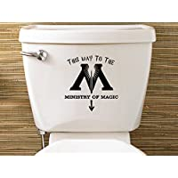Harry Potter Inspired Ministry Of Magic Toilet Sticker by Level 33 Ltd