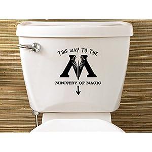 Level 33 LTD Vinilos wc Pegatinas para tapas de inodoro Inspired Ministry Of Magic Toilet Sticker vinilo water pegatina 39