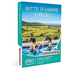 Idea Regalo - Emozione3 - Cofanetto Regalo - Notte di Charme E Relax - 280 soggiorni in rilassanti agriturismi, B&B e Hotel 3 Stelle
