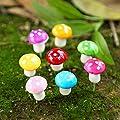VISTARIC Grün Ankunfts-10pcs Mini roten Pilz Micro-Fee Garten Dekor Ornament Bonsai-DIY Grün von Generic - Du und dein Garten