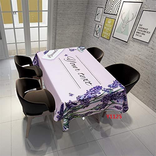 QWEASDZX Tischdecke Moderne Mode Polyestergewebe Digitaldruck rechteckige Tischdecke Wiederverwendbare runde Tischdecken Geeignet für Innen...