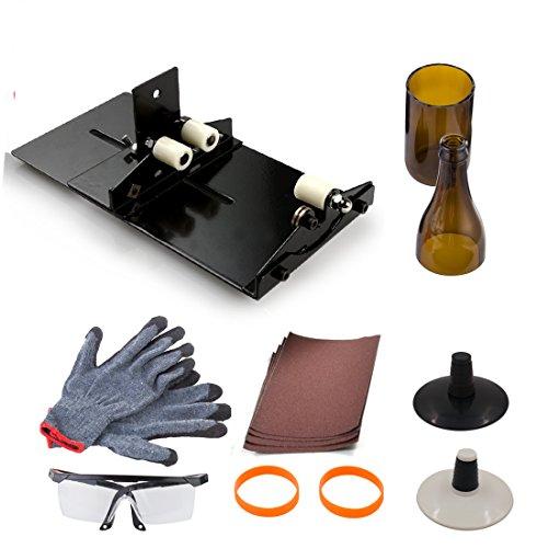 Wein Flasche Werkzeug Kit, anzome gebeizt Glas Werkzeug Kit Wein Jar Ätzen für Heimwerker Glaswaren W/Schutz Goggle Handschuh