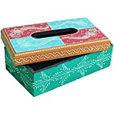 Crafticia Wooden Tissue Box/Tissue Holder/Napkin Holder/Napkin Box With Traditional Work Decorative Showpiece For Gift Item