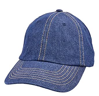 Carbon212 Denim Blue Curved Peak Baseball Cap -  Amazon.co.uk  Clothing 49830753eb88