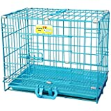 Smarty Pet Paws Plastic Dog Cage with Removable Tray (Blue, 24-inch)