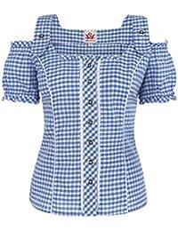 Spieth & Wensky - Damen Trachten Bluse kariert in verschiedenen Farben, Pilla (009567-0115)