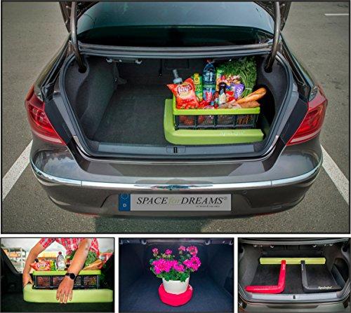 Gepäckfixierung SPACEFIX® (Grün) - Original, praktisch, Befestigungselement in den Kofferraum Ihres Autos. Große 6 x 6 x 100cm. Perfektes Geschenk für Sie und ihn! (Kofferraum)