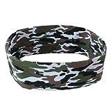 EROSPA® Stirn-Band Schweiß-Band Damen Herren Sport Yoga Stretch - Camouflage