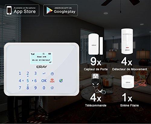 test avis eray m2b gsm alarme maison sans fil syst me d 39 alarme anti int. Black Bedroom Furniture Sets. Home Design Ideas