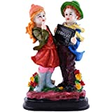 Amfly Present Precious Couple Statue Idol Made Of Resin (Mesurment: Length: 3.5, Wdith: 5.5, Height: 9 (Inch)