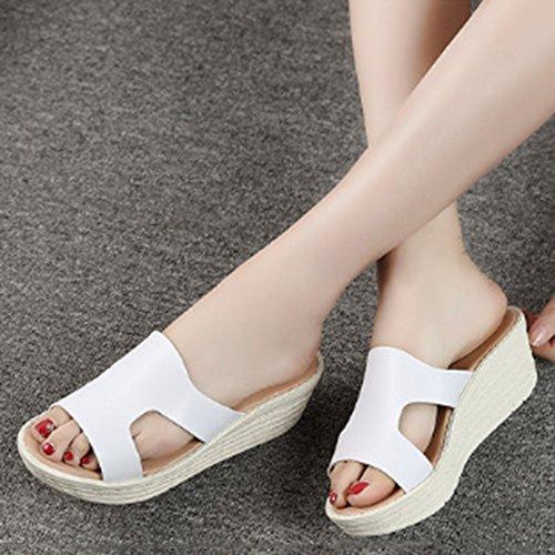 Confortevole Pattini freddi di modo di estate Pendenza femminile con i sandali Pattini spessi femmina Pantofole high-heeled (3 colori optional) (formato opzionale) È aumentato ( Colore : C , dimension C