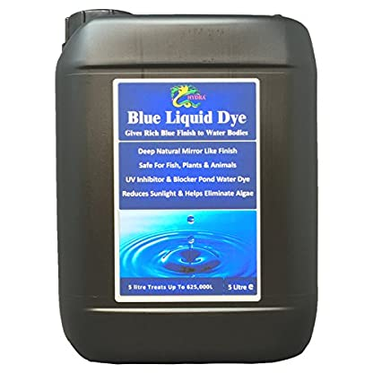 HYDRA LIQUID BLUE DYE 5L treats UpTo 625,000 litres Concentrated Liquid Decor Dye Inhibits Algae/Weed Growth Safe for… 1