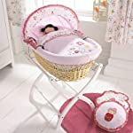 Izziwotnot Cherry Blossom Wicker Moses Basket, Natural