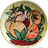 Melograni-Piatto di ceramica decorata a mano, diametro cm 16 alta cm 2,4.MADE in ITALY,Toscana,Lucca.Creato da Davide Pacini.