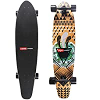 Magic Unione 41 inch acero bambù Super Cruiser Skateboard Longboard kicktail, EYE