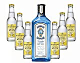 Bombay Sapphire Gin & Fever-Tree Tonic Set - Gin Tonic 40% Vol. - 7-teilig/1St