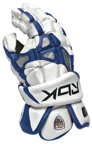 Reebok 7K Handschuh der Lacrosse Herren, Weiß / Königsblau