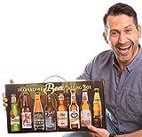 International Beer-Tasting-Box | Bierspezialitäten aus aller Welt | 8 x 0,33 L | Geschenkidee mit praktischen Tragegriff